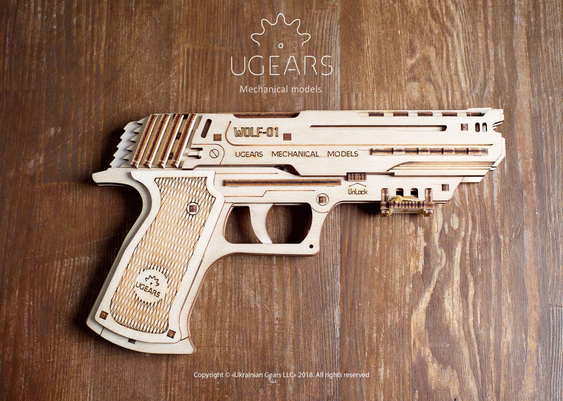 Wolf-01 drevená ručná zbraň